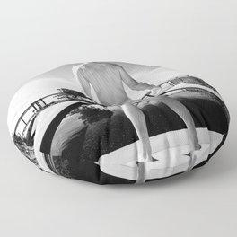 Bare Butt Black Pool Floor Pillow