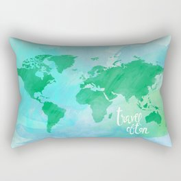 travel often.  Rectangular Pillow