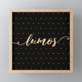 Lumos in Gold Framed Mini Art Print