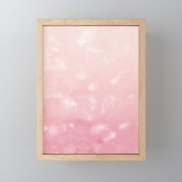 Touching Coral Pink Abstract Painting #1 #ink #decor #art #society6 Framed Mini Art Print