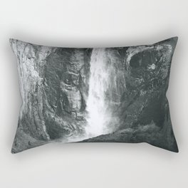 Bridalveil Falls. Yosemite California in Black and White Rectangular Pillow