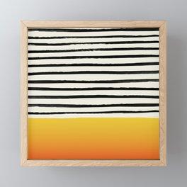Sunset x Stripes Framed Mini Art Print