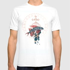 FlyFish LARGE White Mens Fitted Tee