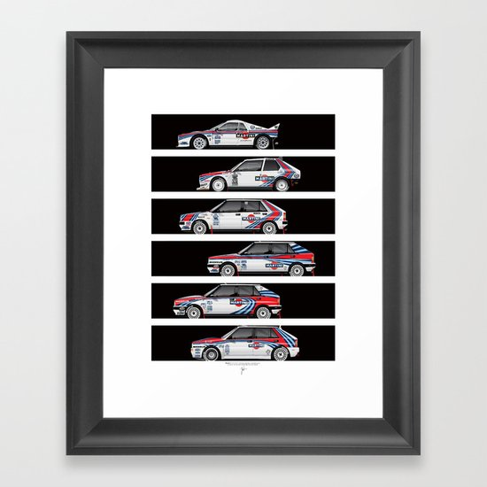 Lancia Martini Rally Cars Framed Art Print