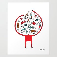holding it all together Art Print