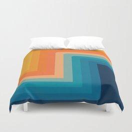 Retro 70s Color Lines Duvet Cover