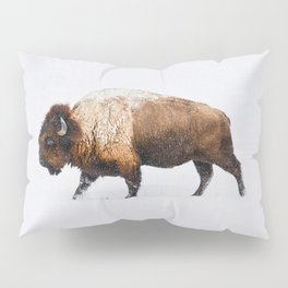 Buffalo In The Snow Pillow Sham