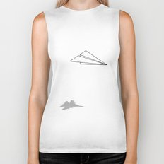 Paper Airplane Dreams Biker Tank