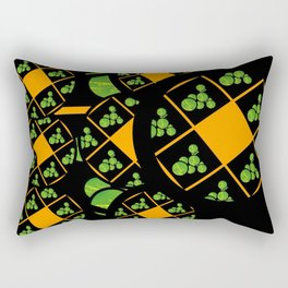 Orange and Green Spaces 100 Rectangular Pillow