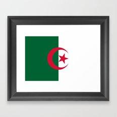 Flag Of Algeria Framed Art Print