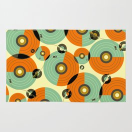Turntables (Red) Rug