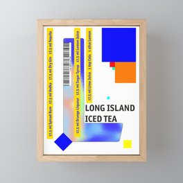"Cocktail ""L"" - Long Island Iced Tea Framed Mini Art Print"