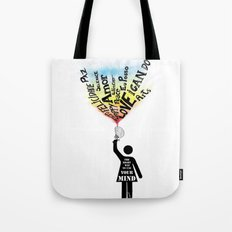 The Right way to use your mind Tote Bag