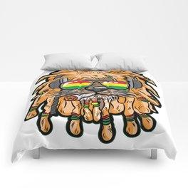 RASTA LION Joint Smoking Weed 420 Ganja Pot Hash Comforters