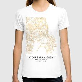 COPENHAGEN DENMARK CITY STREET MAP ART T-shirt