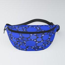 Vibrant Cobalt Blue Polka Dots Fanny Pack
