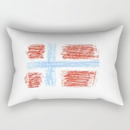 flag of norway 9 – Chalk version  snow,scandinavia,scandinavian,norwegian,oslo Rectangular Pillow