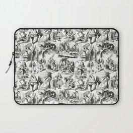 Alice in Wonderland | Toile de Jouy | Black and White Laptop Sleeve