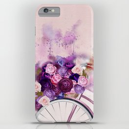Vintag Bicycle and Flowers iPhone Case