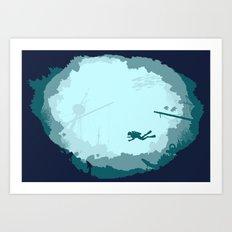 Dive Deep Art Print