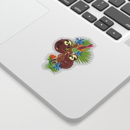 Sloths hanging out Sticker
