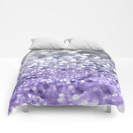 Purple Gray MERMAID Girls Glitter #1 #shiny #decor #art #society6 Comforters