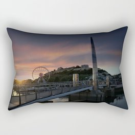 Torquay Harbour At Sunset Rectangular Pillow