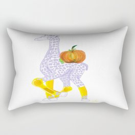 Thanksgiving Dinner - Midas is Ready - Christmas Lavender Giraffe - What does Midas do when Thanksgi Rectangular Pillow