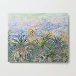 Palm Trees at Bordighera by Claude Monet, 1884 Metal Print