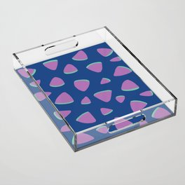 Abstract Graphic Pattern | Blue | Pink | Green Acrylic Tray