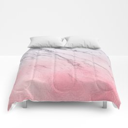 Cotton candy marble Comforters