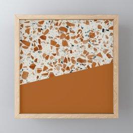 Terrazzo Texture Antique Mustard #3 Framed Mini Art Print