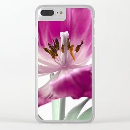 Pink tulip 0169 Clear iPhone Case