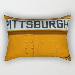 Pittsburgh Sign Of Trolleys Rectangular Pillow