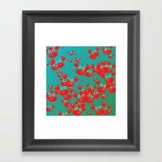 Crab world Framed Art Print