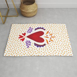 Mexican Burning Heart Rug