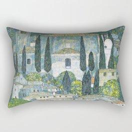 Gustav Klimt - Church in Cassone Rectangular Pillow
