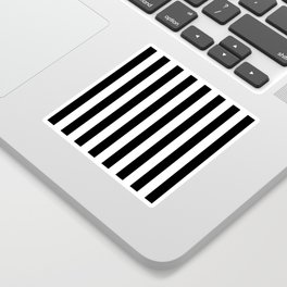 Parisian Black & White Stripes (vertical) Sticker