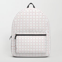 Small Bleeding Hearts Seamless Pattern in red Backpack