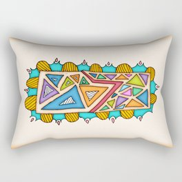 TRIANGULOS-TRIANGLES Rectangular Pillow