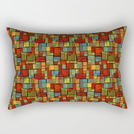 Stained Glass Geometric Pattern Rectangular Pillow