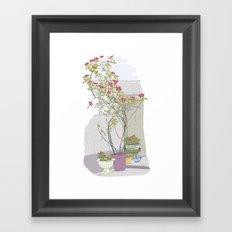 Little potted garden Framed Art Print