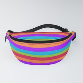 lumpy or bumpy lines abstract and summer colorful - QAB273 Fanny Pack