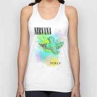 nirvana Tank Tops featuring polly / nirvana by Dan Solo Galleries