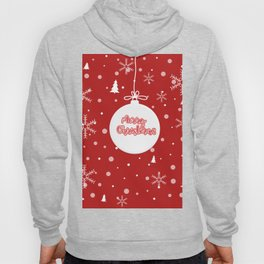Happy holiday, Christmas sign with snow flake and christmas decoration Hoody