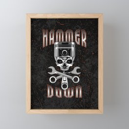 Hammer Down Framed Mini Art Print