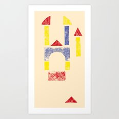 Blockitecture Two Art Print