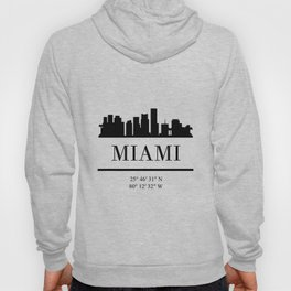 MIAMI FLORIDA BLACK SILHOUETTE SKYLINE ART Hoody