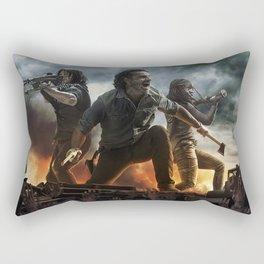All Out War Rectangular Pillow