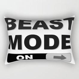 Slide to Unlock Beast Mode Rectangular Pillow